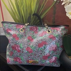 XL Betsey Johnson sequins tote